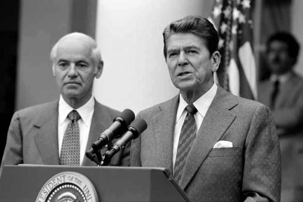 an examination of president reagans economic policies President reagan's economic policies in his inaugural address, ronald reagan said that it was his intention to make government work in the days ahead, he said, i.