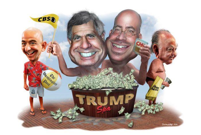 Jeff Bezos, Les Moonves, Jeff Zucker, Roger Ailes