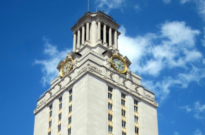 University of Texas Tower from which gunman Charles Whitman fired.  Photo credit:  Wally Gobetz / Flickr