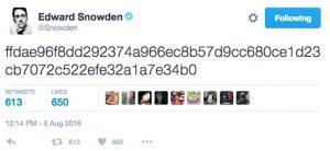 Edward Snowden, Tweet
