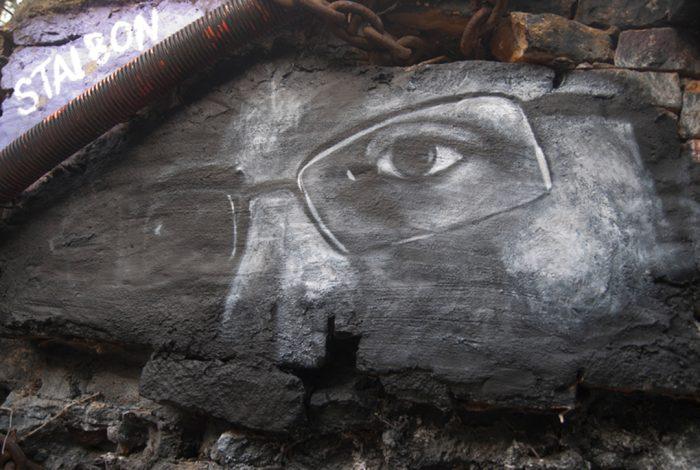 Edward Snowden eyes graffiti