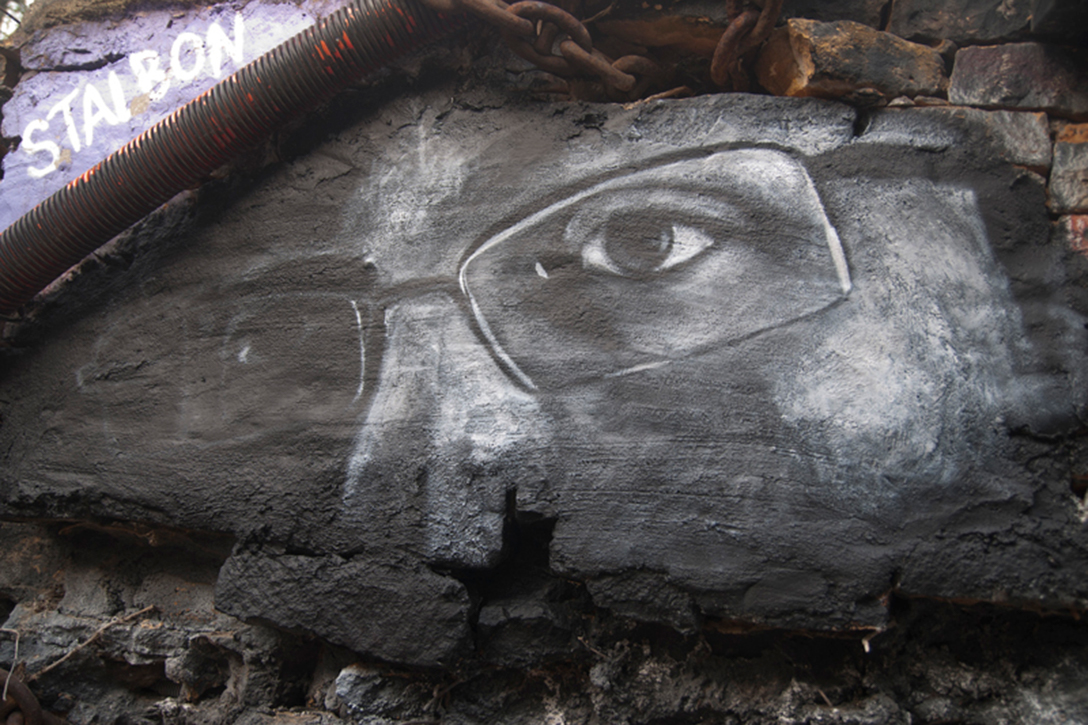 Edward Snowden eyes graffiti
