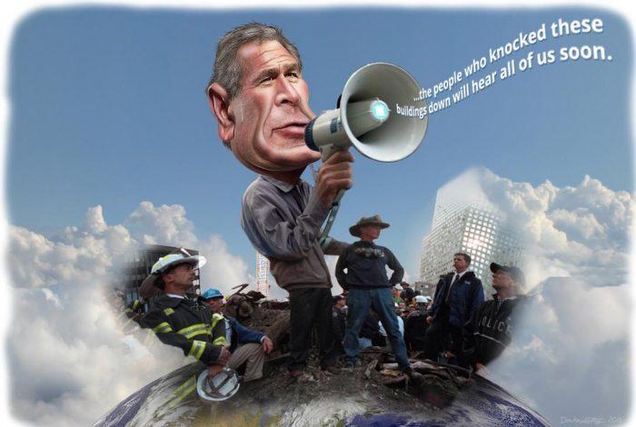 George Bush, Ground Zero, 9/11