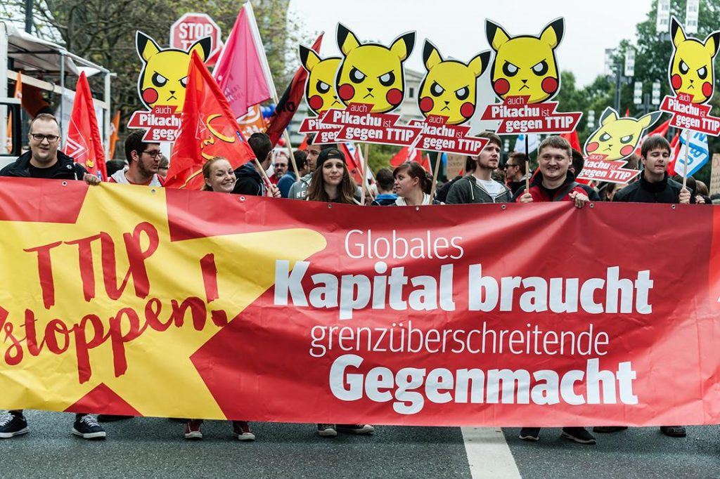 Protest against TTIP & CETA in Frankfurt, Germany. Photo credit:  Patrick G. Stößer / Campact / Flickr  (CC BY-NC 2.0)