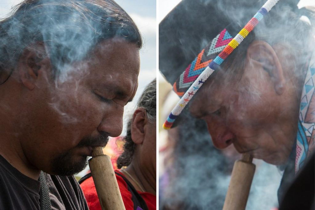 Smoking the chanupah. Photo credit: With permission from Paula Bard