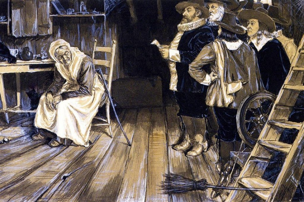 The Witch Hunt. (Cropped painting, 1888) Photo credit: Henry Ossawa Tanner / Wikiart