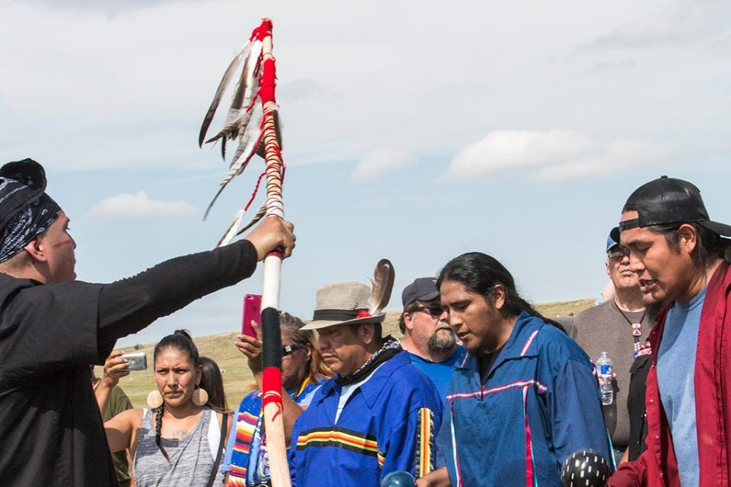 Dakota Access Pipeline protest prayer walk. Photo credit: With permission from Paula Bard