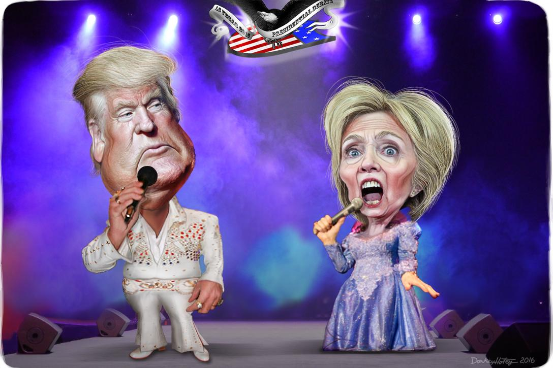 Will Trump try to make Clinton Stand By Her Man? Photo credit: DonkeyHotey / WhoWhatWhy (CC BY-SA 2.0) See complete attribution below.