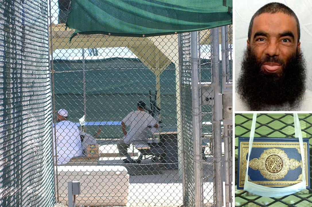 Prisoners in medium security facility at Guantanamo Bay, Cuba. Abdul Zahir. Guantanamo prisoners are given a copy of the Koran.Photo credit: US Department of Defense, JTF-GTMO / Wikimediaand US Department of Defense