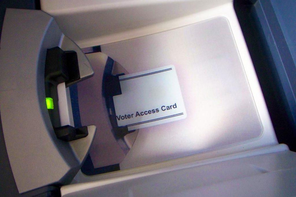 Voting machine Photo credit: kafka4prez / Flickr (CC BY-SA 2.0)
