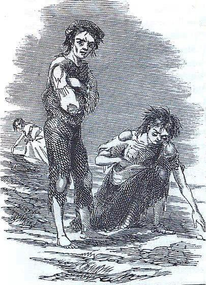 Starving boy and girl raking the ground for potatoes during the Irish Potato Famine. Photo credit: James Mahony / Wikimedia