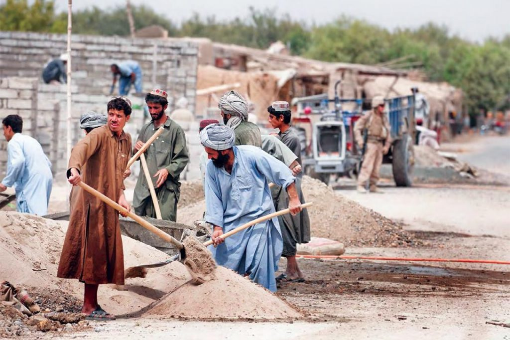 Construction workers in Afghanistan. Photo credit: ISAF Public Affairs / SIGAR (PDF)