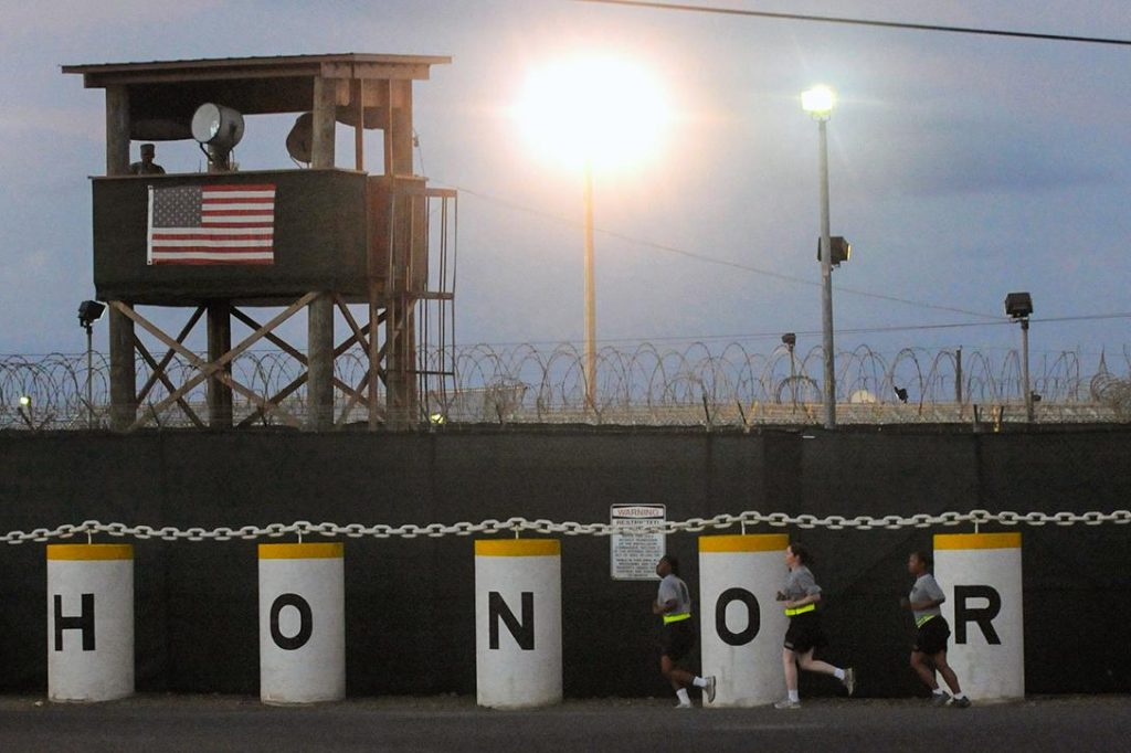 Honorbound sign at Joint Task Force Guantanamo's Camp Delta. Photo credit: US Army / Flickr