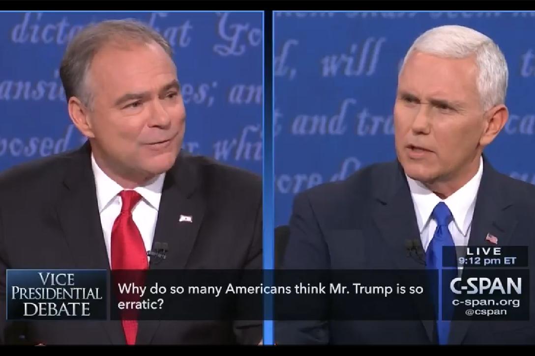 Tim Kaine, Mike Pence, Vice Presidential debate