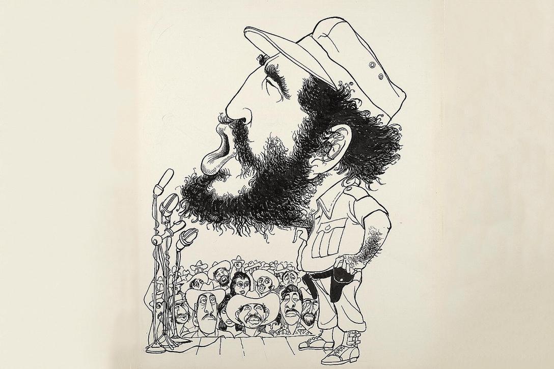 Fidel Castro cartoon by Edmund S. ValtmanPhoto credit: Library of Congress