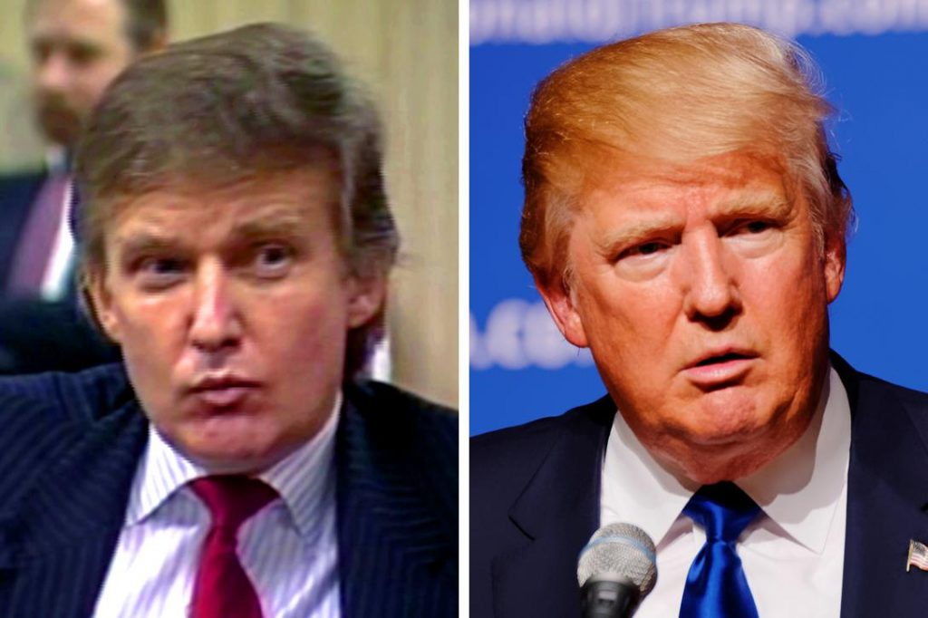 Donald Trump in the 1980's and Donald Trump in 2015. Photo credit: Trump The Movie and Marc Nozell / Flickr (CC BY 2.0)
