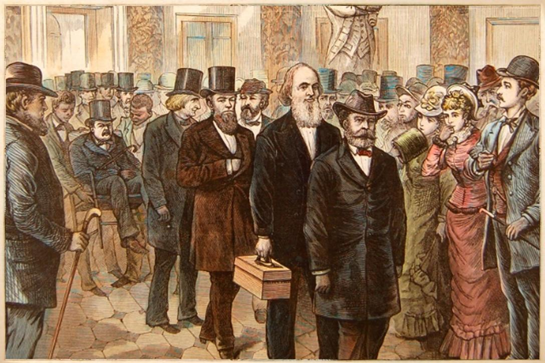 The contested presidential election of 1876. Photo credit: US House of Representatives
