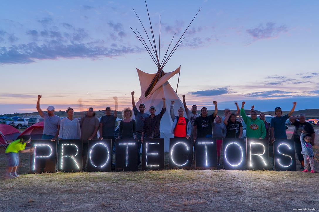 Sacred Stone Camp at Standing Rock. Photo credit: Joe Brusky / Flickr  (CC BY-NC 2.0)