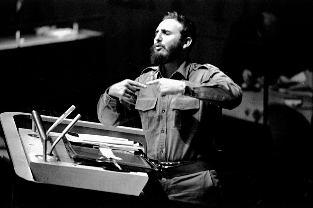 Fidel Castro during his speech at the General Assembly of the United Nations on September 26, 1960. Photo credit: Antonio Marin Segovia / Flickr (CC BY-NC-ND 2.0)