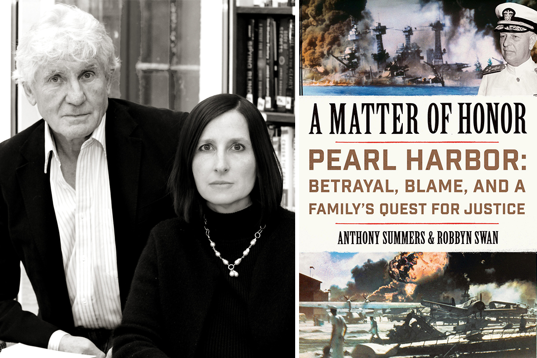Anthony Summers and Robbyn Swan, authors of A Matter of Honor: Pearl Harbor: Betrayal, Blame, and a Family's Quest for Justice. Photo credit: Eileen Hyland; Harper Collins