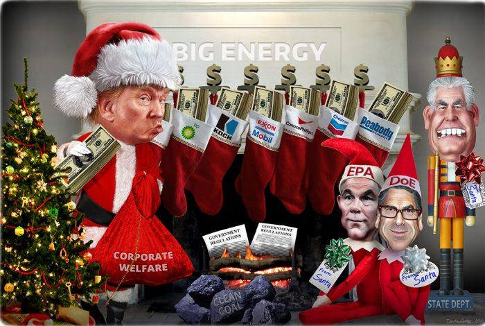Donald Trump, Scott Pruitt, Rick Perry, Rex Tillerson, Santa