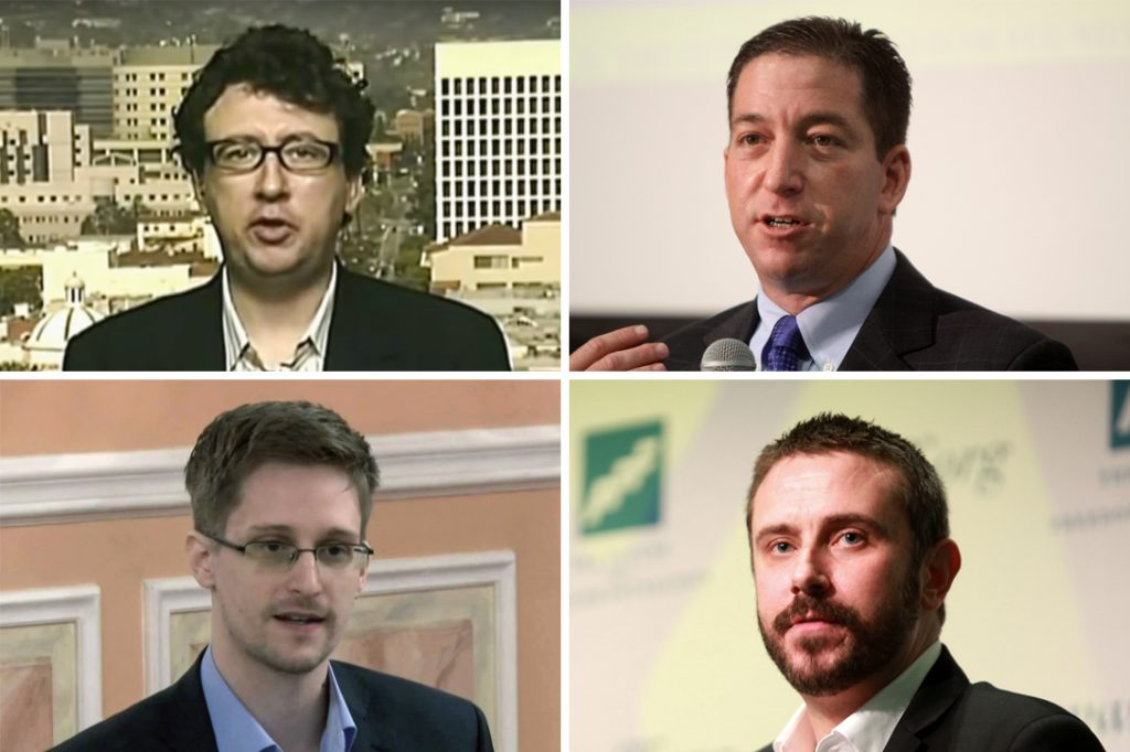 Jason Leopold, Glenn Greenwald, Edward Snowden, Jeremy Scahill