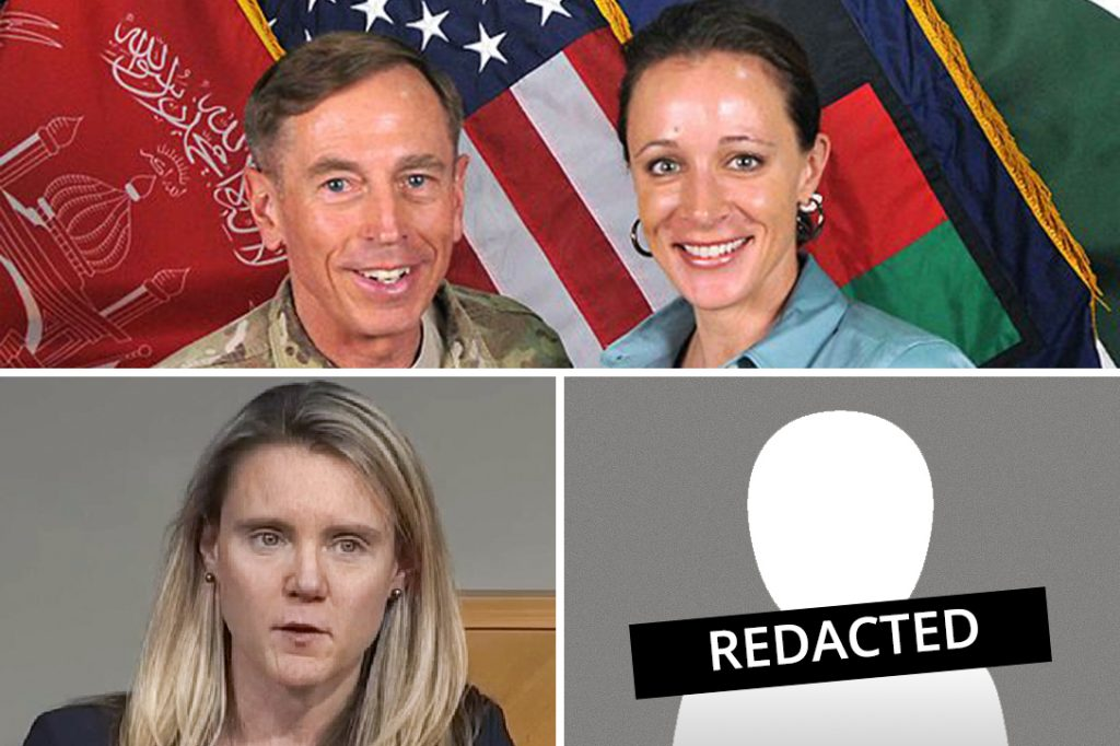 David Petraeus, Paula Broadwell (top right), Siobhan Gorman, unnamed CIA press officer
