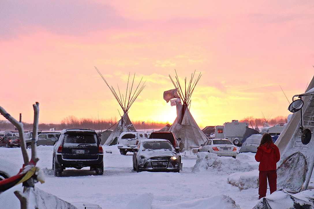 Camp at Standing Rock. Photo credit: Daniel Brown for WhoWhatWhy
