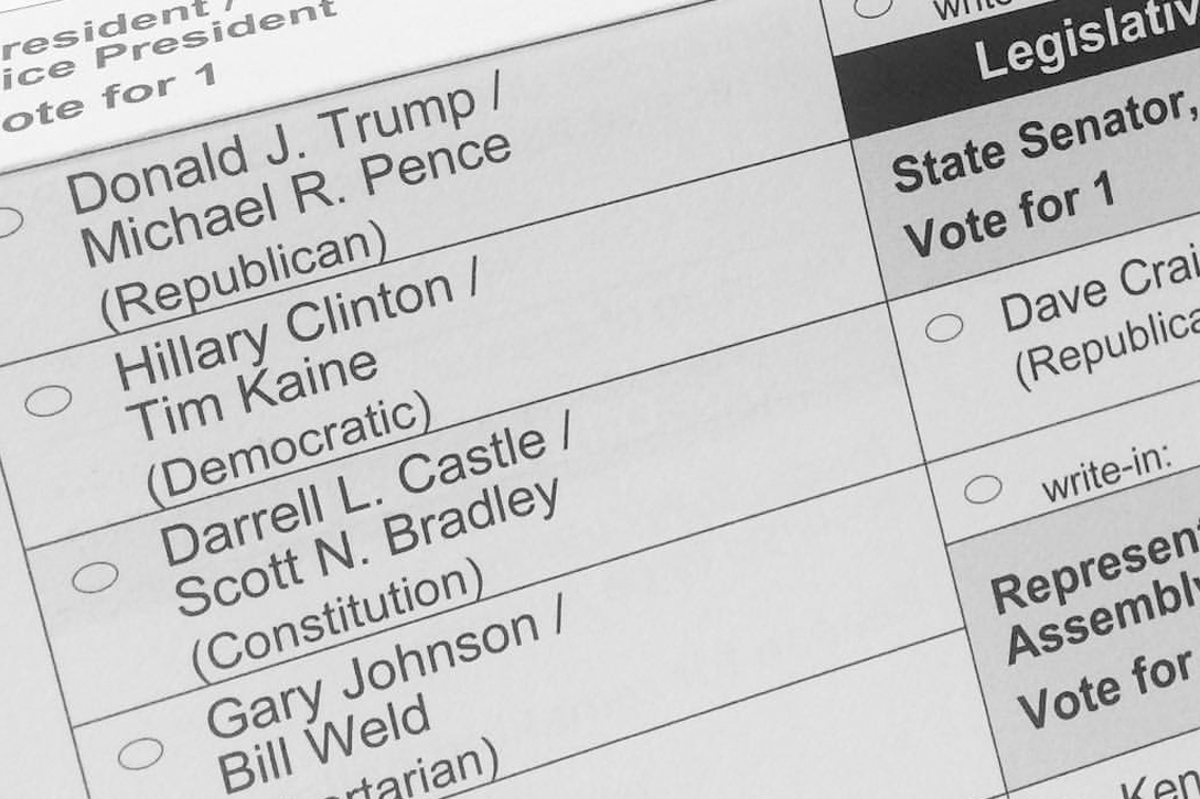 2016 Election Ballot
