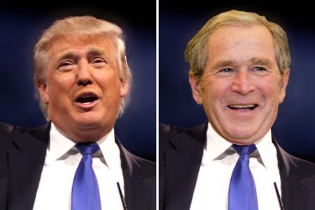 Donald Trump, George Bush