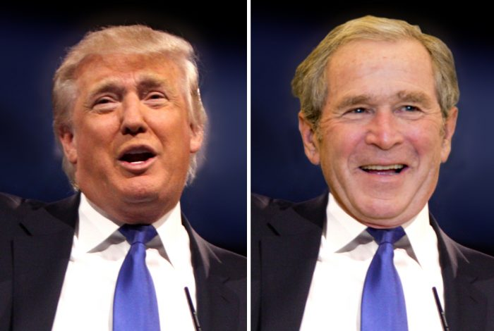 Donald Trump, George Bush