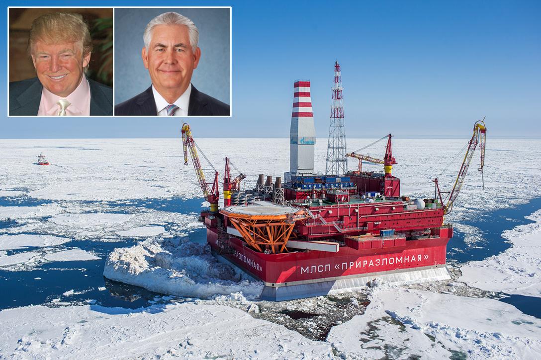 Russian oil rig, Donald Trump, Rex Tillerson
