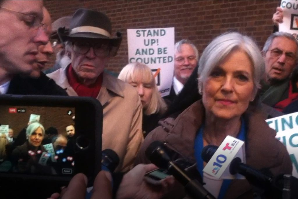 Jill Stein in Pennsylvania, pushing for recount Photo credit: WhoWhatWhy