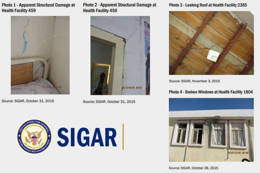 SIGAR, clinic, damage
