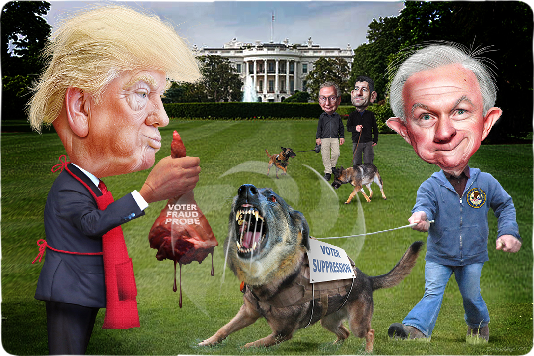 Donald Trump, Jeff Sessions, Voter Suppression