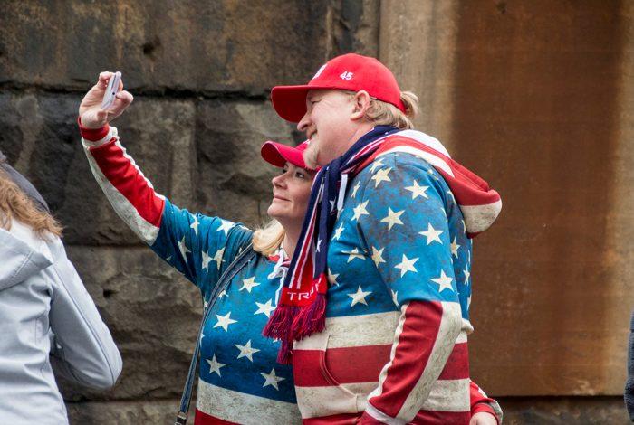 Trump, supporters, selfie