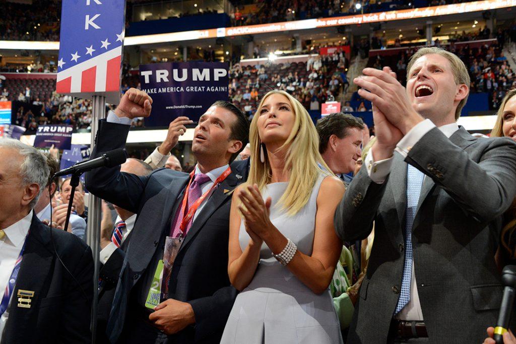 Donald Trump, Jr, Ivanka Trump, Eric Trump