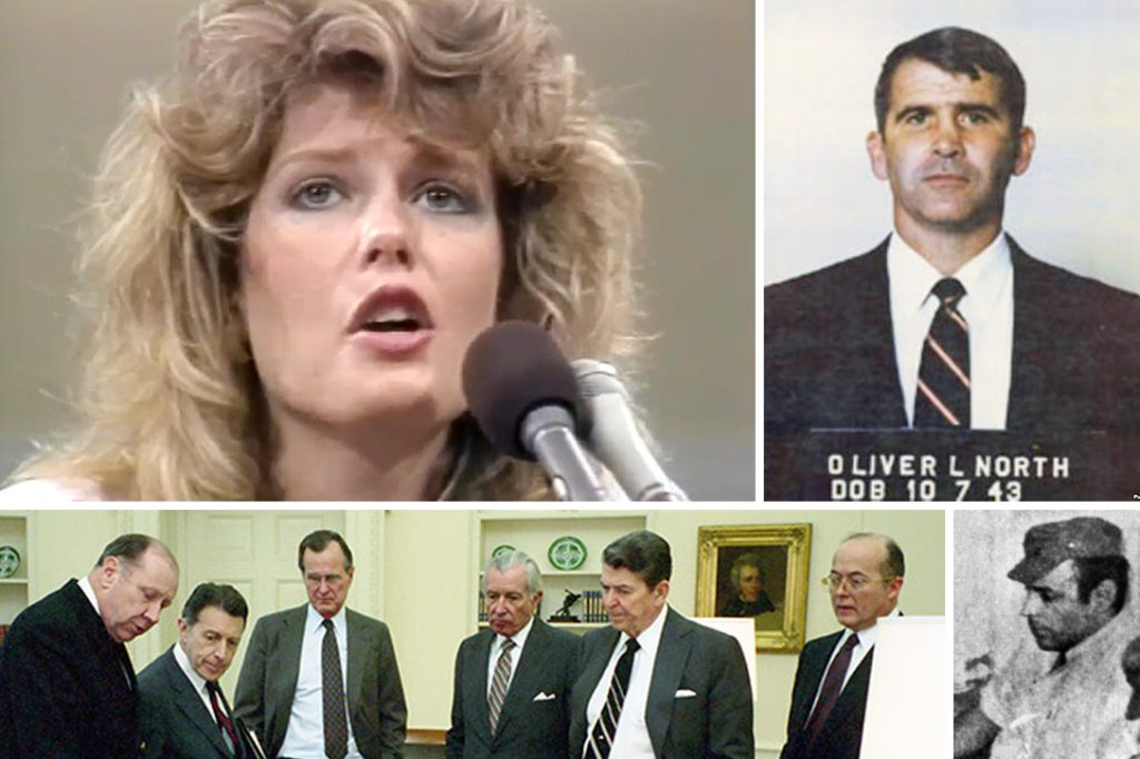 Fawn Hall, Oliver North, Abu Nidal, Ronald Reagan, John Poindexter