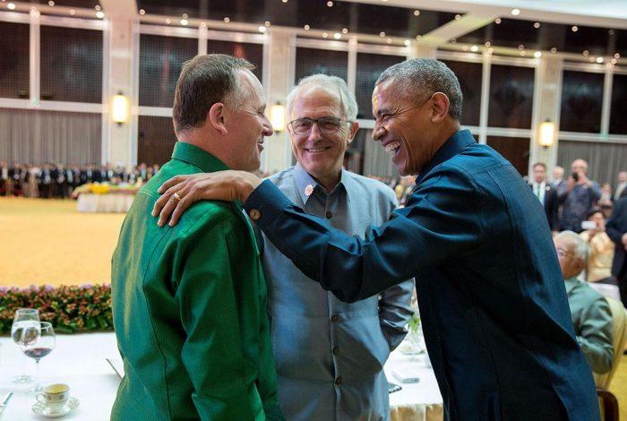 John Key, Malcolm Turnbull, Barack Obama