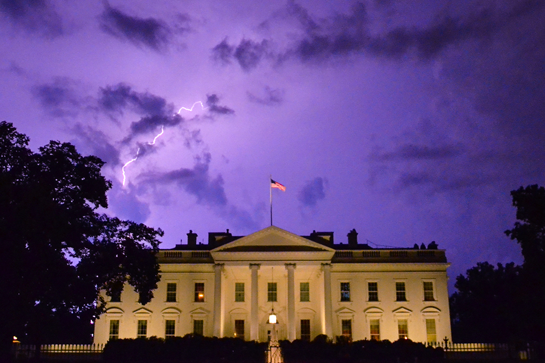 Storm, White House, Lightning