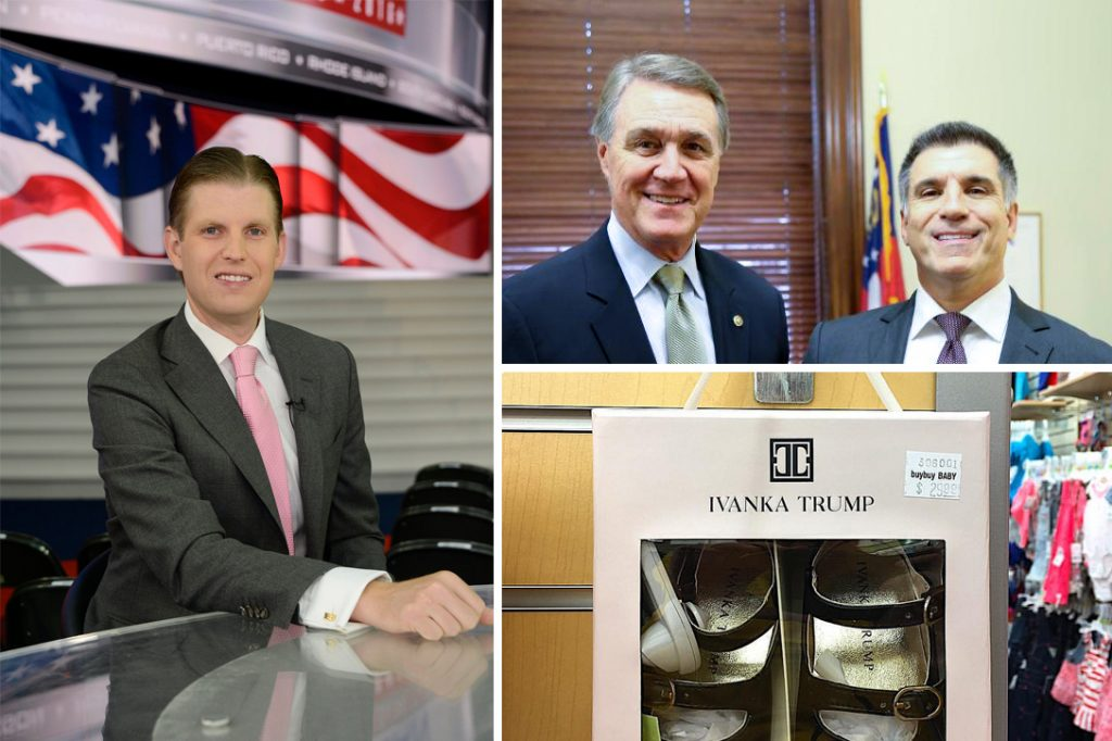 Eric Trump, David Perdue, Vincent Viola, Ivanka Trump