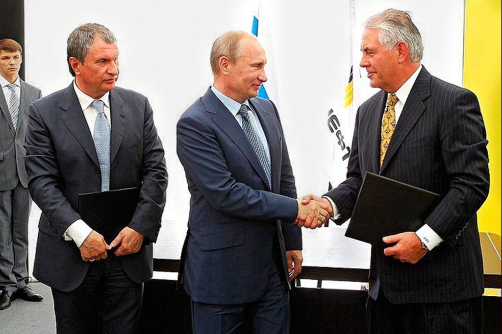 Igor Sechin, Vladimir Putin, Rex Tillerson