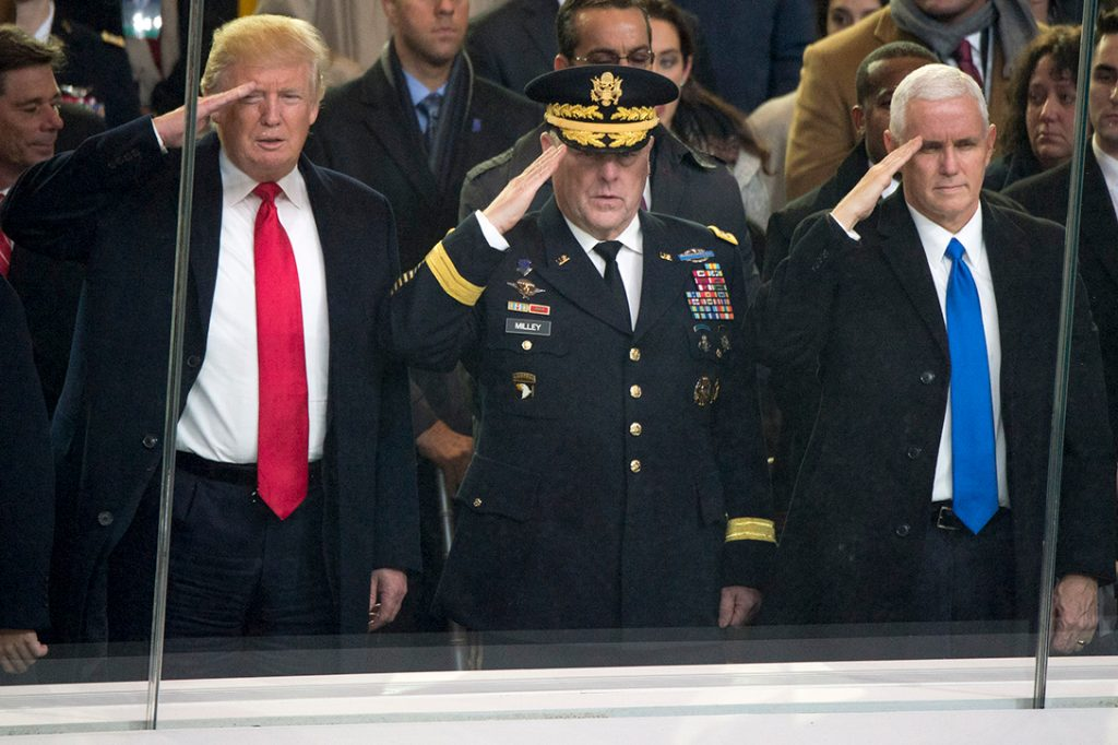 Donald Trump, Joe Dunford, Mike Pence