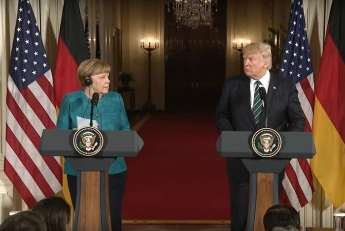 AngelaMerkel, Donald Trump, NATO