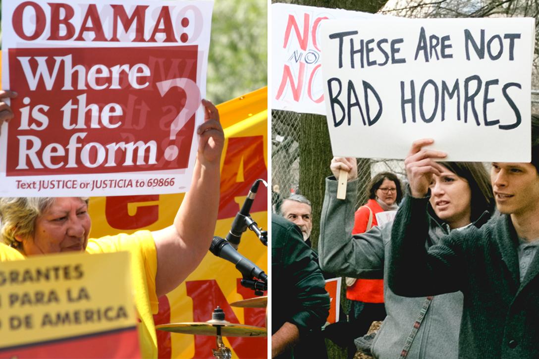 Trump, Obama, immigration