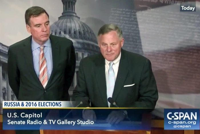Richard Burr, Mark Warner and Vladimir Putin