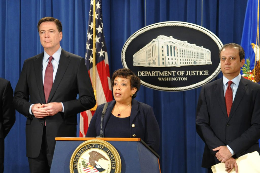 James Comey, Loretta Lynch,