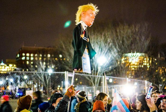 Donald Trump, protest