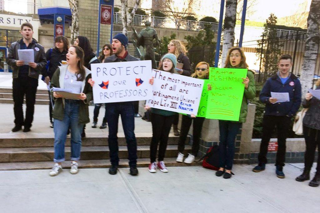 Fordham Lincoln Center, protest