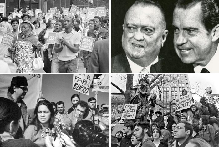 Civil rights, farm workers, protest, Nixon, J. Edgar Hoover